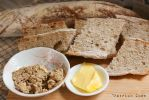 Home-baked baguette with pate by patchow