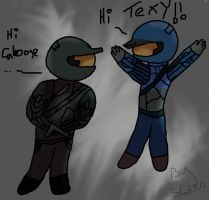 Chibi Tex and Chibi Caboose by Shakko1993