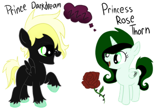 Prince DarkDream and Princess Rose Thorn by SecretMonsters