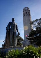 Columbus + Coit Tower by MaxHedrm0
