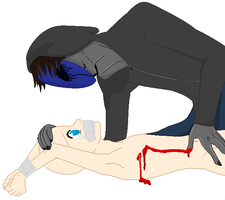 Eyeless Jack Captured OC Victim COLLAB by DragonLoverartis