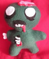 Zeddy the Undead Baby plush by fromzombieswithlove