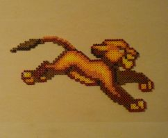 Simba Lion King Bead Sprite by monochrome-GS