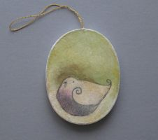 oval ornament-bird with green by SethFitts