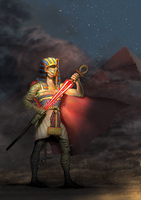 The Pharaoh strikes back by Quentinvcastel