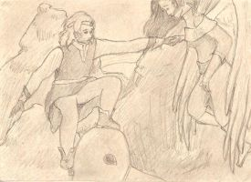 Earendil and Elwing by PyriteWolf