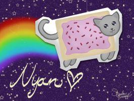 Nyan nyan in space by shadowqueen16