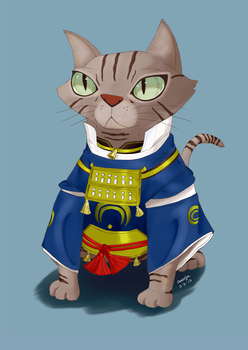 Cosplay Cat Illustration by Monarchq