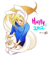 Here's to an Adventurous 2012 by yunart