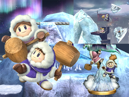 Ice Climbers on the Mountain by paolivares