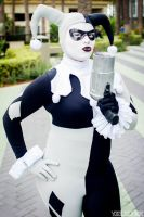 Black and White Harley Quinn by Lady-Ha-ha