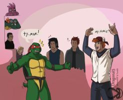 Tmnt get in line kid by Dragona15