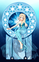 Elsa the Snow Queen by Ichigokitten