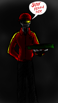 The Pizza Man by Vilenro