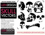 FREE SKULL VECTOR PACK by llendesign