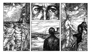 Ulysses Pages - No 9. Eyes - Fathers by besnglist