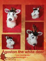 Agoston the white deer -head by Grion