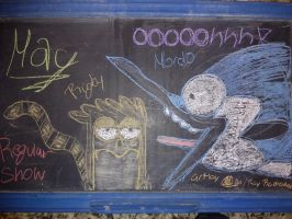 Chalkboard Regular Show by RayRamador