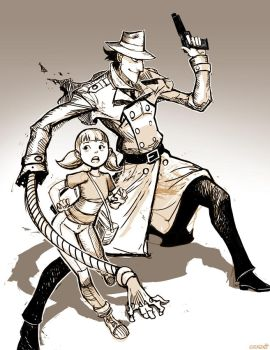 Inspector Gadget and Penny - Sketch by GENZOMAN