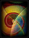 oldpaintingrevisited abstract blue yellow red x by santosam81