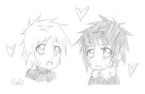 Naruto and Menma Moe version by MikaGx