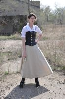 Steampunk Girl with Pistol Stock I by kndrwllmsn