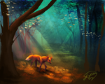 A Fox in the Forest by Hh4v3n