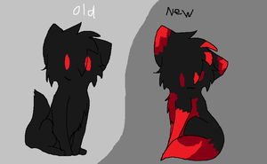old and new black furry by shadythedark