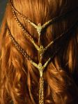Viking Shieldmaiden Celtic Braid Costume Wig Back by MorganCrone