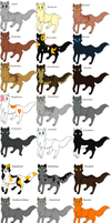 thunderclan cats by joltdoom