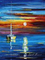 Sea and sky by Leonid Afremov by Leonidafremov