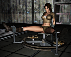 Lara Croft in Peril: The Spreader 6 by FatalHolds