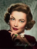 Gene Tierney colorised by ThinkingKind