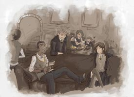 friends day 2 hogwarts by Rodethos