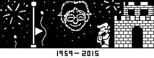Miiverse Sketch - Lowering the flag by SuperAbachiBros