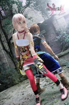 Final Fantasy XIII-2 Serah and Noel Cosplay by lovetobeone