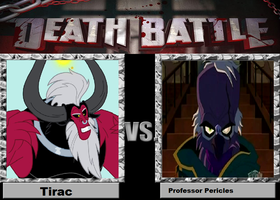 Death Battle #3: Tirac vs. Professor Pericles by TheCrappyMSPainter23