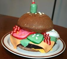 Hamburger Cake by Jenileigh