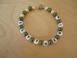 Slytherin Bracelet by WhisperingWindxx