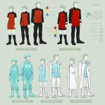 USS Legacy uniforms by Nomnomroko
