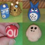 Doctor Who, Sherlock, and Totoro Charms by Darthkitty24