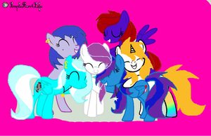 My mane 6 :3 by Sunshine123pl