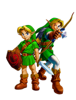 Young Link and Adult Link by Legend-tony980