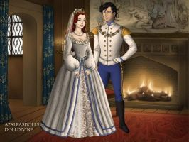 Ariel and Eric Wedding Tudor style by TFfan234