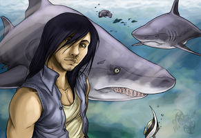 Requin with his second loves by DevilsHaven