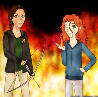 Girls on Fire by OtakuRose
