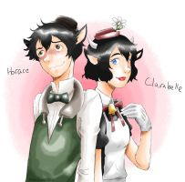 Horace and Clarabelle by MidoriLied