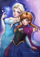 Elsa and Anna by Scrappy195