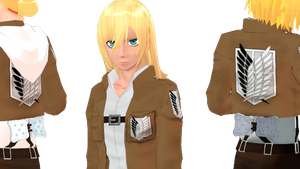[MMD] SNK christa lenz by whimsicottsh