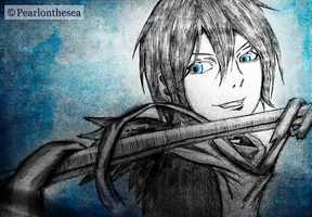 Noragami- Yato by Pearlonthesea
